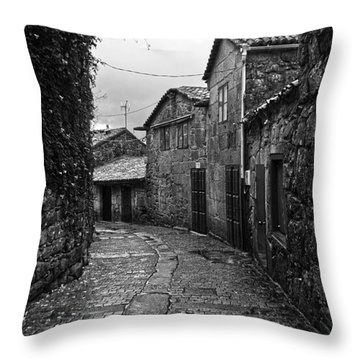 Ancient Street In Tui Bw Throw Pillow