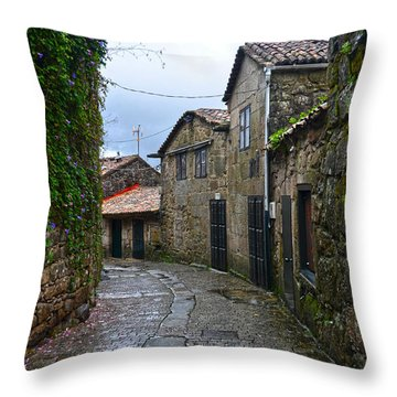 Ancient Street In Tui Throw Pillow
