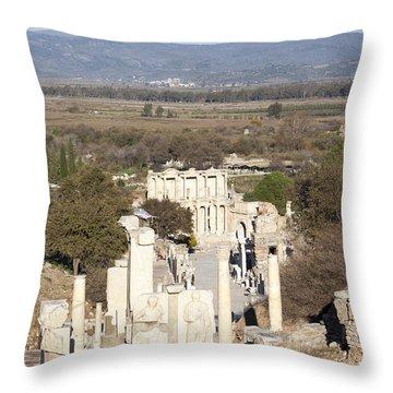 Ancient Street Throw Pillow
