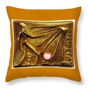 Sun God Worship  Throw Pillow by Hartmut Jager