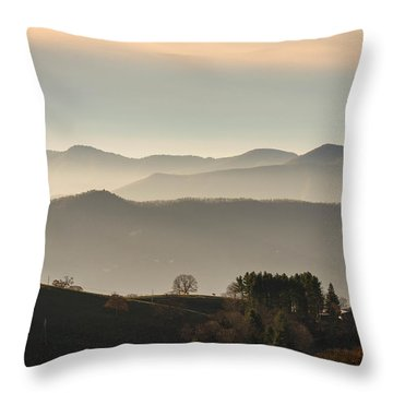 Ancient Valley Throw Pillow by Serge Skiba