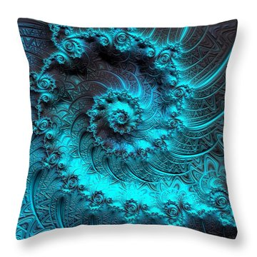 Ancient Verdigris -- Triptych 1 Of 3 Throw Pillow