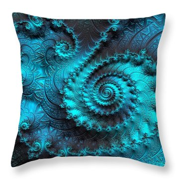 Ancient Verdigris -- Triptych 2 Of 3 Throw Pillow