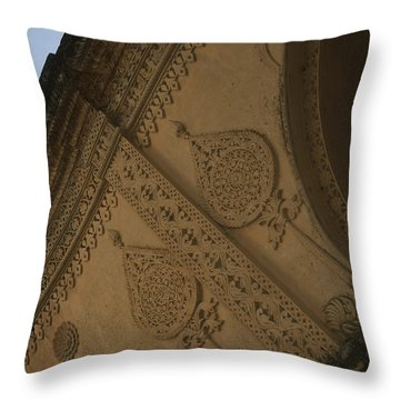 Throw Pillow featuring the photograph Ancient Wall by Mini Arora