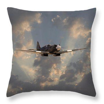 And Comes Safe Home Throw Pillow by Pat Speirs