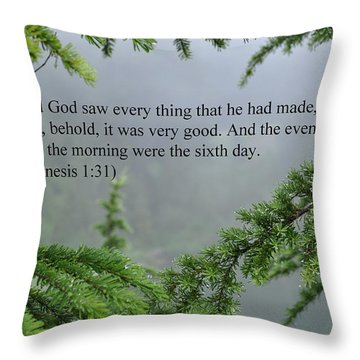And God Saw Throw Pillow by Tikvah's Hope