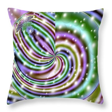 Throw Pillow featuring the digital art And He Called Them Stars by Luther Fine Art