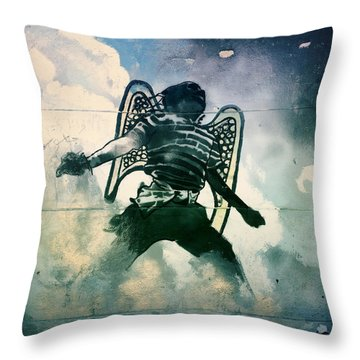 And I Heard As It Were The Noise Of Thunder.. Throw Pillow by A Rey