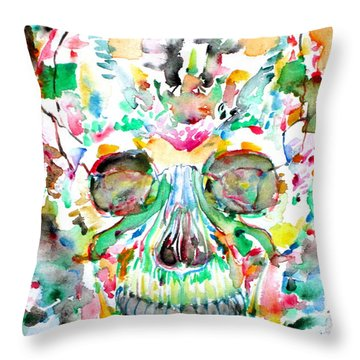 And Joining At Last Its Mighty Origin Throw Pillow by Fabrizio Cassetta