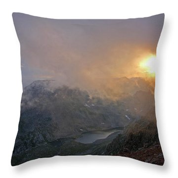 And On The Sixth Day Throw Pillow by Jim Garrison