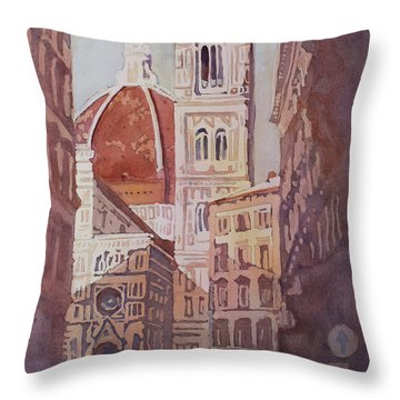 And Suddenly The Duomo Throw Pillow