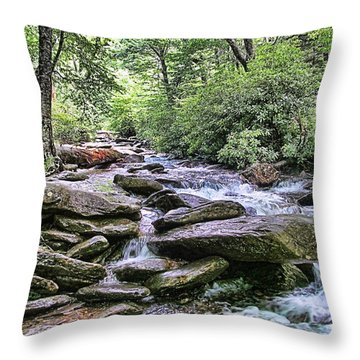 ...and The Creek Don't Rise Throw Pillow by Victor Montgomery