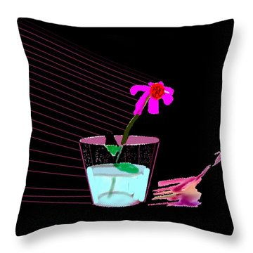 Throw Pillow featuring the digital art And The First Ray Of Sun ...  by Dr Loifer Vladimir