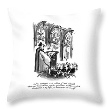 And The Lord Spoke To The Children Of Israel Throw Pillow