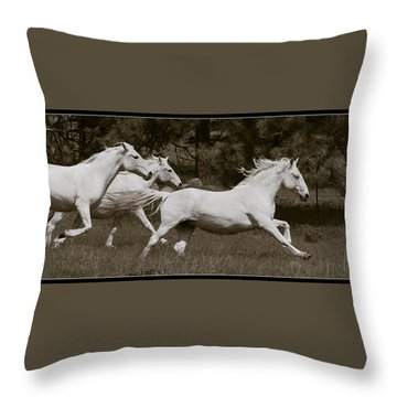 Throw Pillow featuring the photograph And The Race Is On D5932 by Wes and Dotty Weber