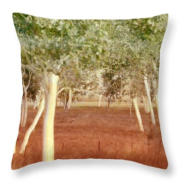 And The Trees Danced Throw Pillow by Holly Kempe