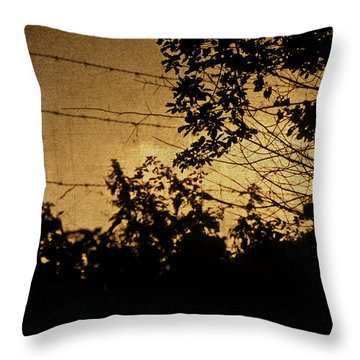 And Then The Night Comes Throw Pillow by Georgia Fowler