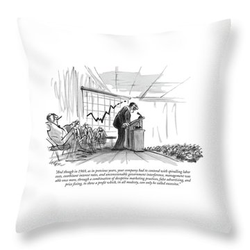 And Though In 1969 Throw Pillow