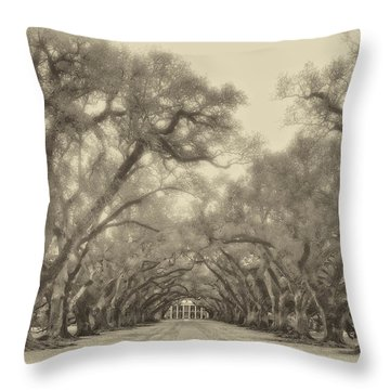 And Time Stood Still Sepia Throw Pillow