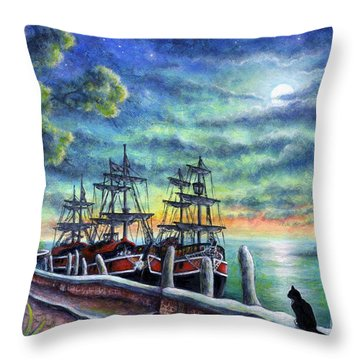 And We Shall Sail My Love And I Throw Pillow by Retta Stephenson