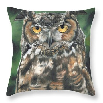 Throw Pillow featuring the painting And You Were Saying by Lori Brackett