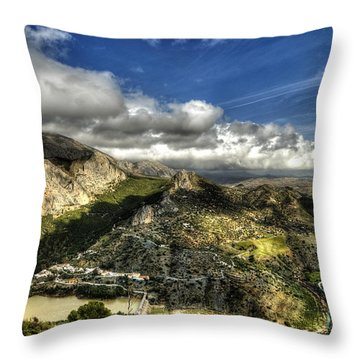 Throw Pillow featuring the photograph Andalusia - Mountain View by Julis Simo