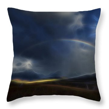 Throw Pillow featuring the digital art Andean Rainbow by William Horden