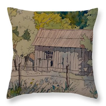Anderson Barns Throw Pillow