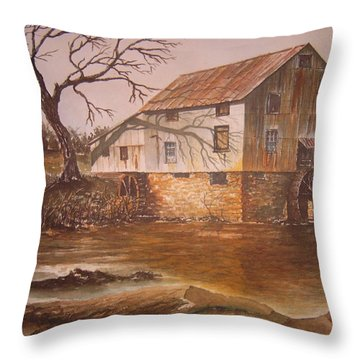 Anderson Mill Throw Pillow by Ben Kiger