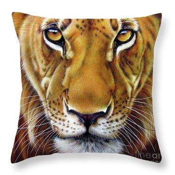 Andre Lion Throw Pillow by Jurek Zamoyski