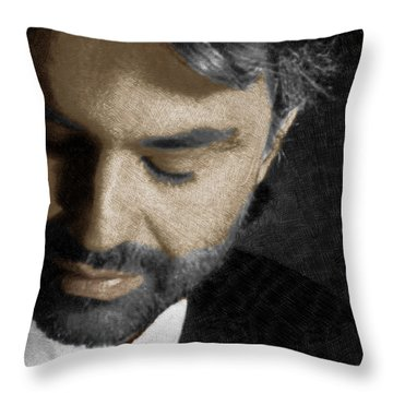 Andrea Bocelli And Square Throw Pillow