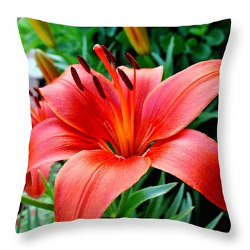Andrea's Lily Throw Pillow
