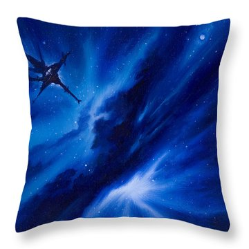 Andreas Nebula Throw Pillow by James Christopher Hill