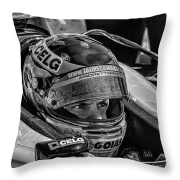 Andretti Driver Throw Pillow