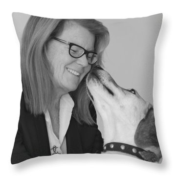 Andrew And Andree Bw Throw Pillow