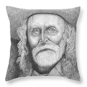 Andrew Garcia - Frontiersman Throw Pillow by Lawrence Tripoli