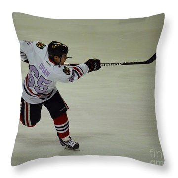 Andrew Shaw Fights Cancer Throw Pillow