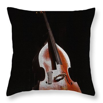 Andrew's Bass Throw Pillow by Kandy Hurley