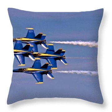 Andrews J B Air Show 11 Throw Pillow