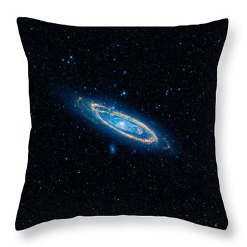 Andromeda Galaxy And Companions Throw Pillow