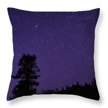 Andromeda Rising Throw Pillow