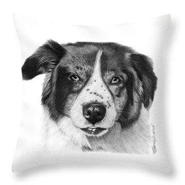 Andy - 032 Throw Pillow by Abbey Noelle