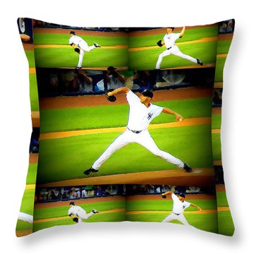 Throw Pillow featuring the photograph Andy Being Andy by Aurelio Zucco