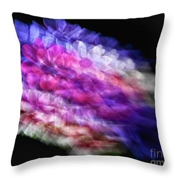 Anemone Abstract Throw Pillow by Claudia Kuhn