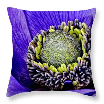 Anemone Heart Throw Pillow