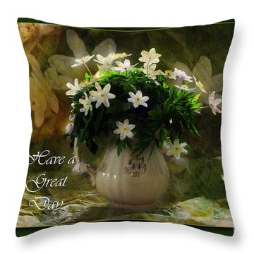 Anemones Throw Pillow by Randi Grace Nilsberg