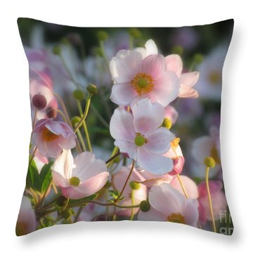 Anemones Soft Beauty Throw Pillow by France Laliberte