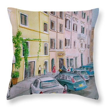 Anfiteatro Hotel Rome Italy Throw Pillow by Frank Hunter