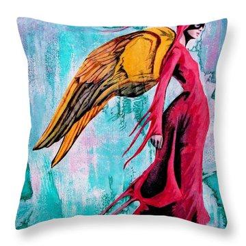 Angel 1 Navigating Ether Throw Pillow