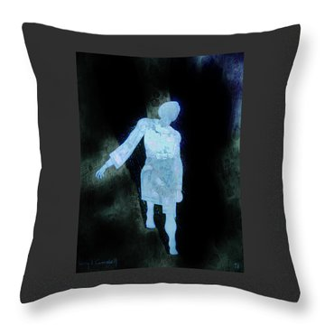 Throw Pillow featuring the photograph Oh That I Were An Angel  by Larry Campbell